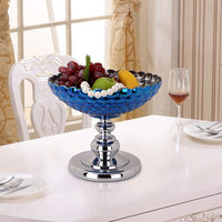 Europe Glass fruit bowl home Decor Crafts Plates Emboss Meal Tableware Dish Accessories Pastry Sweet placa de tv decorative