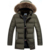 2016 Novo Estilo Militar Do Exército Sólida Acolchoado Jaqueta Moda Quente Grosso Casaco de Inverno Gola De Pele Outwear Tamanho Asiático Z2497