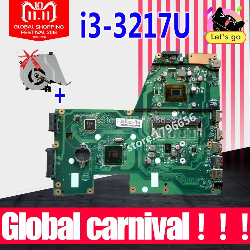 купить New fan+ X551CA I3-3217U 1 RAM Slot Laptop motherboard for ASUS X551CA F551C F551CA NoteBook Computer Test original motherboard онлайн