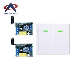 Image 1 - 220 v 1 ch RF draadloze afstandsbediening schakelaar 2 ontvanger 1 zender muren afstandsbediening zelf lock modus