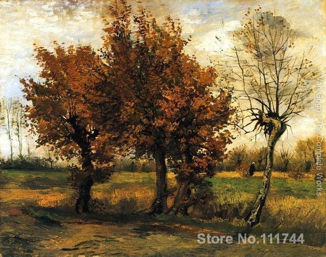 Dipinti Di Vincent Van Gogh Paesaggio Autunnale Con Quattro Alberi
