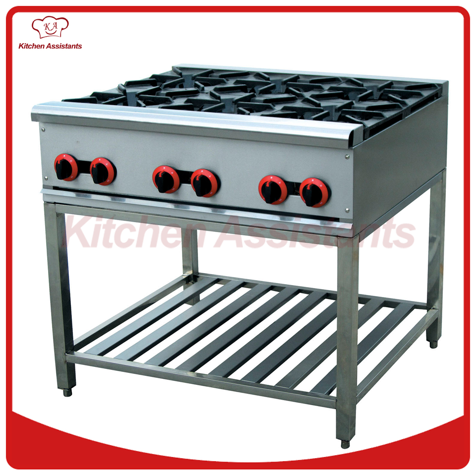 GH6A gas range with 6 burner of hotel equipment gh987 gas range with 4 burner with cabinet