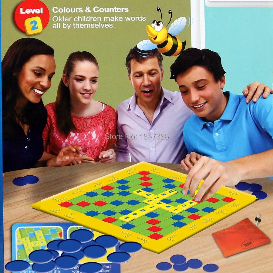 Scrabble Junior Board Game 2 Tingkat Anak Anak Kata Kata Papan Permainan Perjalanan Double Faced Papan Catur Mainan Pendidikan Pesta Permainan Teka Teki Silang Teka Teki Aliexpress