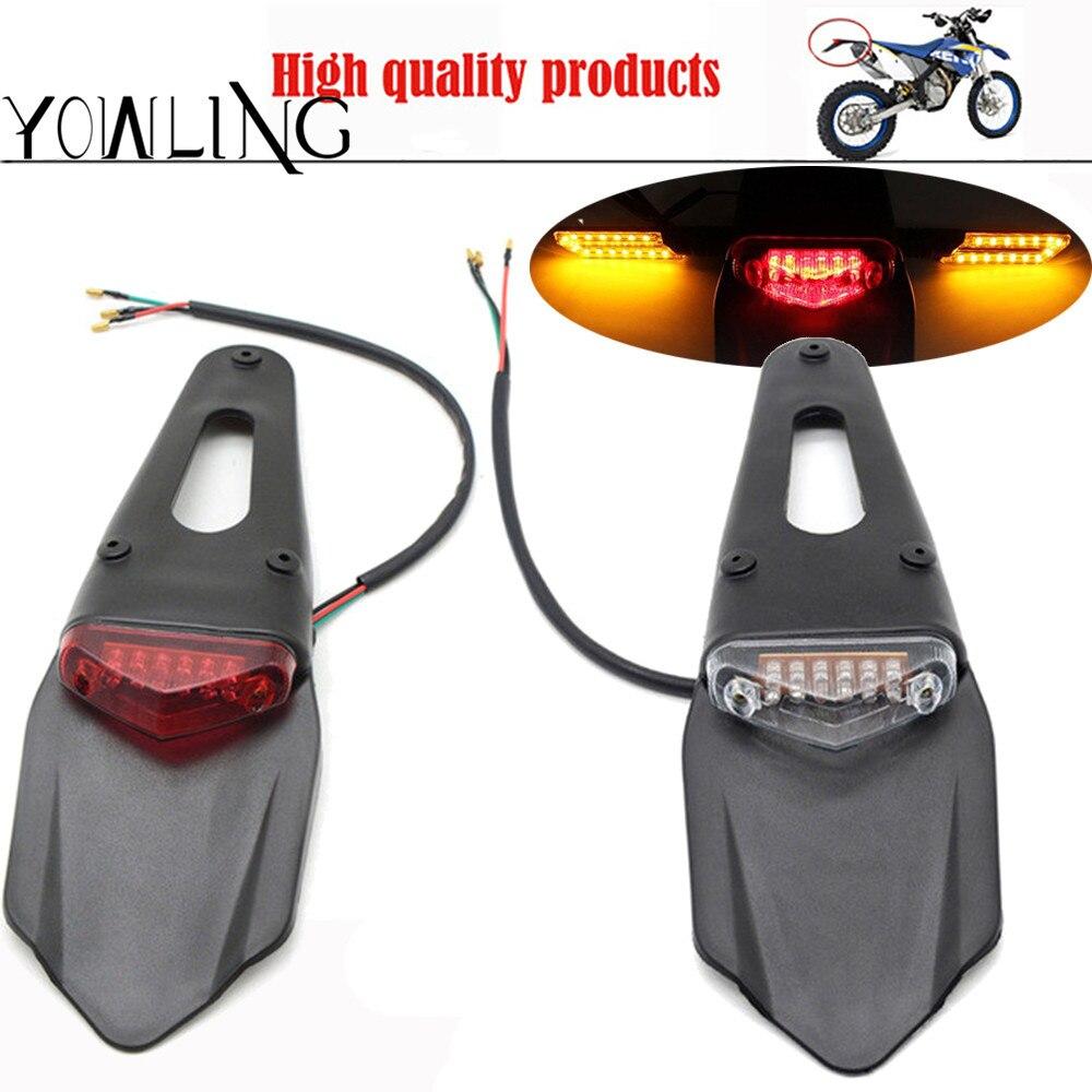 Motorcycle LED Tail Light&Rear Fender Stop Enduro taillight MX Trail Supermoto FOR KTM YAMAHA HONDA CR EXC WRF 250 400 426 450