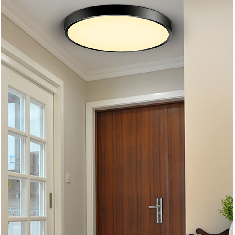 Ceiling Lights Led Modern Acryl Alloy Silver Round 5cm Super Thin Led Lamp.led Light.ceiling Lights.led Ceiling Light.ceiling Lamp For Foyer