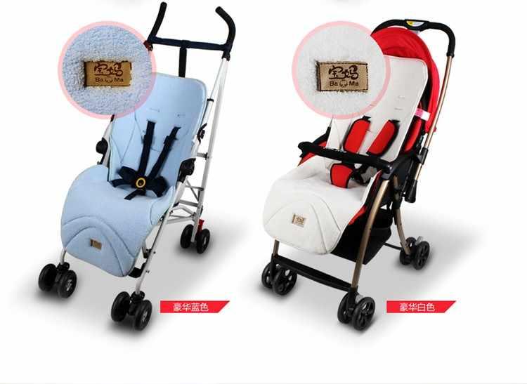 Bayi Stroller Ganda Penebalan Beludru Kursi Mobil, Bayi Stroller Seat Cushion, Anak Carriage Mobil Payung Keranjang Kursi Kasur