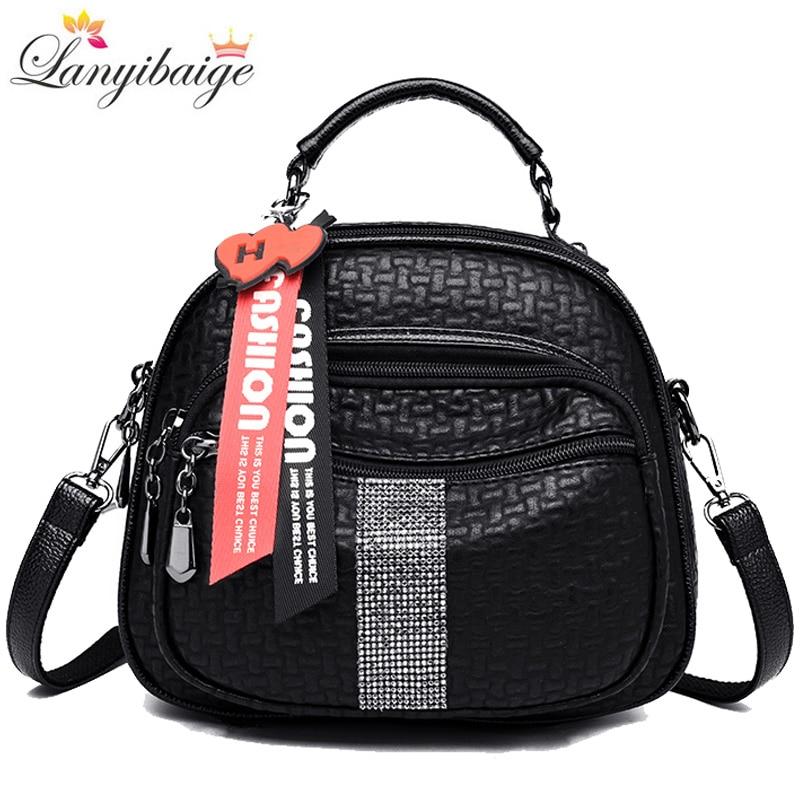2019 Hot Women Backpacks High Quality Leather Women Shoulder Bag Fashion School Bag For Girls Retro Ladies Travel Backpacks