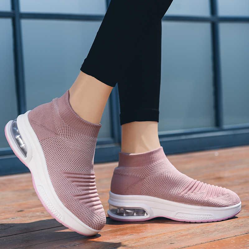 Neue High Top Sneakers Plattform Frauen Glitter Ankle Stiefel Socke Schuhe Frau Unisex Dad Chunky Turnschuhe Zapatos De MuJjer