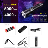 KLARUS XT21X CREE XHP70.2 P2 LED 4000 lumens 7 Mode Tactical Led Flashlight Micro USB 2A 5000mAh Li ion battery for Self Defence