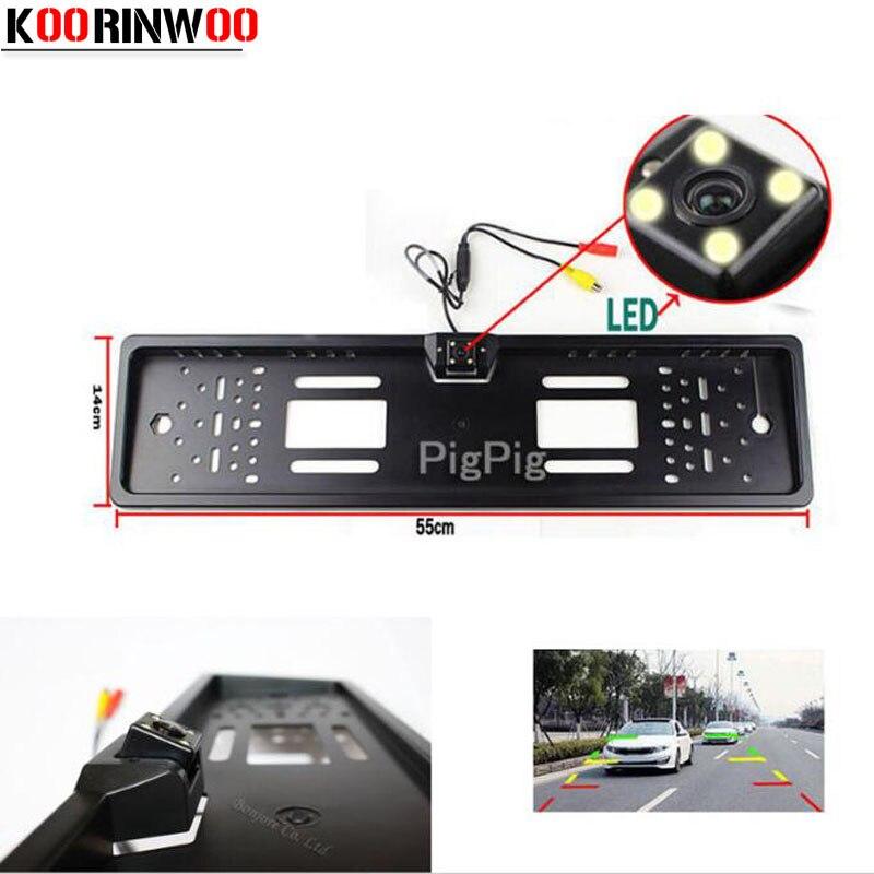 Koorinwoo Auto European Nummernschild Rahmen CCD Rückfahrkamera ...