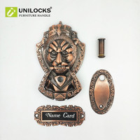 Drawers Cabinets Hardware Metal Lion Head Pull Handle Knob Sizes 175mm 110mm Ring Diameter 52mm