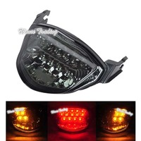 waase For Suzuki GSXR 1000 GSXR1000 K5 K6 2005 2006 Chrome Rear Tail Light Brake Turn Signals Integrated LED Light