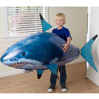 1PCS Remote Control Flying Air Shark Toy Clown Fish Balloons Inflatable Helium RC Helicopter Robot Gift for Kids Children Party