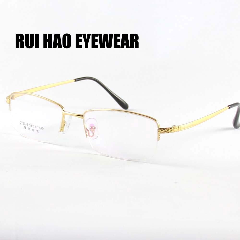 fa42f6320 الرجال نظارات إطار نصف بدون شفة النظارات الرجال واسعة مصمم البصرية وصفة  طبية نظارات إطار العلامة التجارية إطار نظارات شمسية