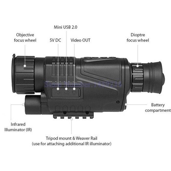infravermelha telescópio óculos de visão noturna pode