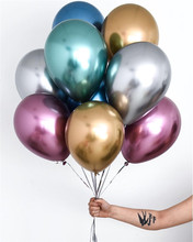 50pcs 8/10/11/12inch Chrome Latex Balloons Wedding Party Decor Globos Metalicos Thick Pearl Metallic Ballon Helium Supplie