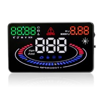 E300 OBD2 HUD head up display auto vehicle computer speed fuel consumption meter heads up display speeding alert