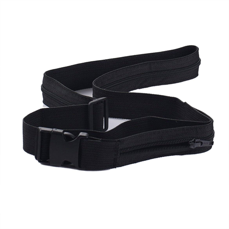 SCYL Security Travel Waist Money Belt thin light Money Belt Secret Pocket Hidden geo pattern hidden pocket cardigan