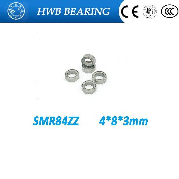 Free Shipping 4PCS  4x8x3  Metal Shields Bearings   Stainless Steel  SMR84 ZZ free shipping 4x7x2 5 metal shields bearings abec 7 stainless steel smr74 zz