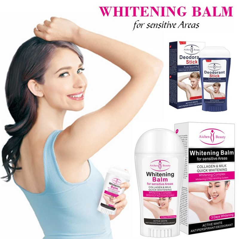 50ml Deodorant Stick Brightening Fragrant Body Stick Antiperspirant Stick Alum Deodorant Underarm Removal Bar Underarm Removal