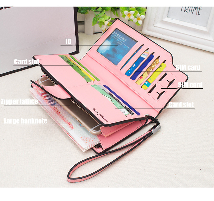 2018 Brand Wallet Ms. High Quality Wallet Multifunction Credit Card Slot Wallet Long Large Capacity Cardholder Wallet Multicolor