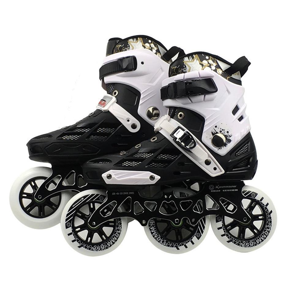 Adulti professionale Scarpe Pattinaggio di Velocità Variabile Da Slalom Velocità Patines Trasporto Pattinaggio ruota Da Corsa Pattini Pattino 3*110mm IC01