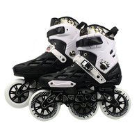 Professional Adult Speed Roller Skating Shoes Changeable Slalom Speed Patines Free Skating Racing Skates Shoe 3*110mm wheel IC01