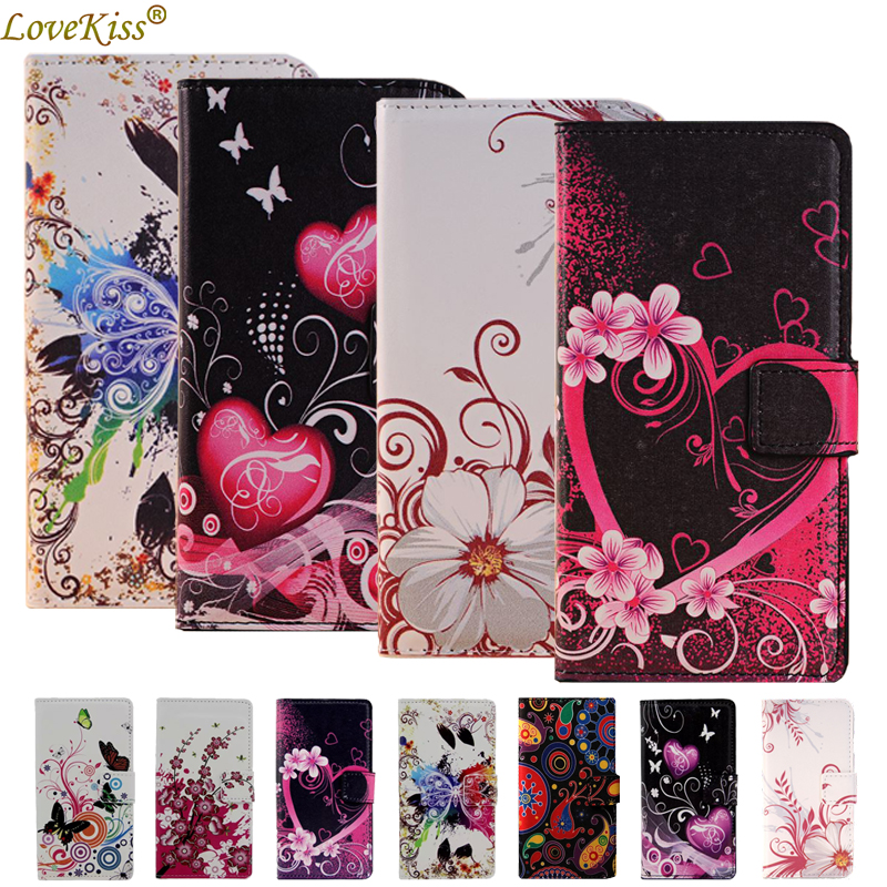 Flower Leather Wallet <font><b>Phone</b></font> Bag For <font><b>Lenovo</b></font> Vibe K5 Plus K6 Power <font><b>A2010</b></font> A2580 S90 K3 K4 Note A6000 A7000 A5000 <font><b>Case</b></font> Cover <font><b>Cases</b></font> image