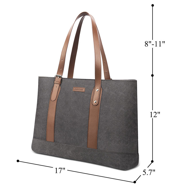BRINCH Women Laptop Tote Bag Lightweight water resistant Tablet HandBags with Adjustable Straps Slim Notebook Business Briefcase in Top Handle Bags from Luggage Bags