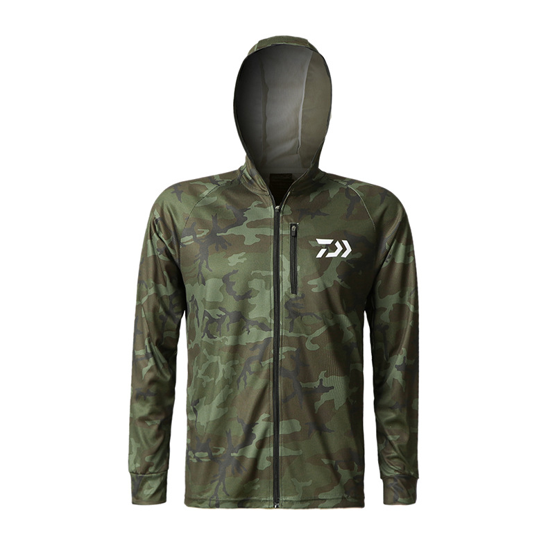2019 New Camouflage Male Fishing Outdoor Sport Sunscreen Long Sleeve Breathable Quick Drying Ultraviolet-proof Hiking Shirt