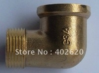 DN25 Elbow Fittings 1 Thread Elbow Fittings Brass Nipple Pipe Fitting Brass Fittings Big Sizes Elbow