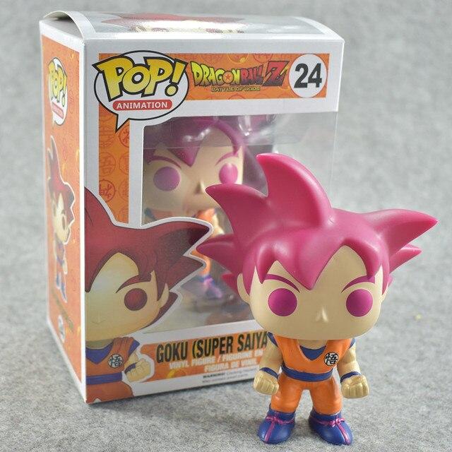 Funko pop De Dragon Ball Z GOKU Action Figure Boneca Coleção Toy Modelo para o presente de aniversário das crianças