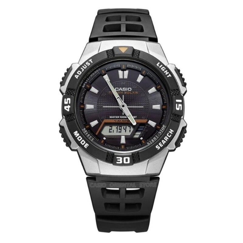 Casio Часы Армия Relogios 2018 Бесплатная доставка Для мужчин кварцевые наручные часы AQ-S800W спортивные Плавание сзади Солнечный свет Мощность резин...