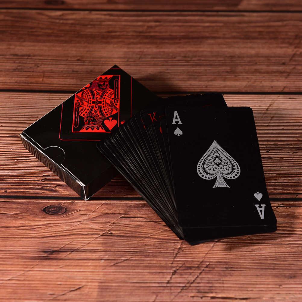 プラスチックの箱のポーカー黒トランプ家族ゲーム防水プラスチックカード