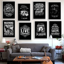 Black White Motivational Quotes Wall Art Canvas Painting Nordic Posters and Prints Vintage Picture For Living Room Decor