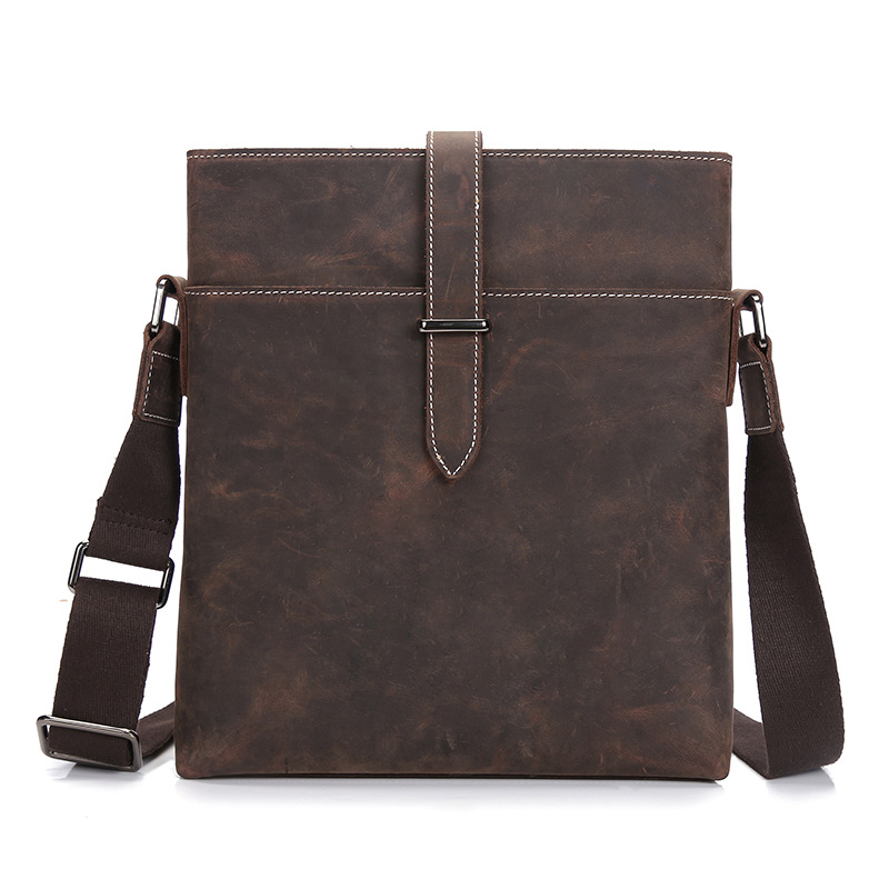 Crazy Horse Genuine Cowhide Leather Cross Body Shoulder Handbag Casual Business Messenger Bag Tote Sling Bag LS0245