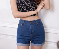 2016 New Fashion Women S Jeans Summer High Waist Stretch Denim Shorts Slim Korean Casual