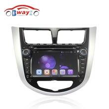 Android 6.0 Radio de coche para Hyundai Verna solaris Accent 2011 2012 2013 coche dvd gps navi 1024*600 2 din en el tablero de audio MIC extenal