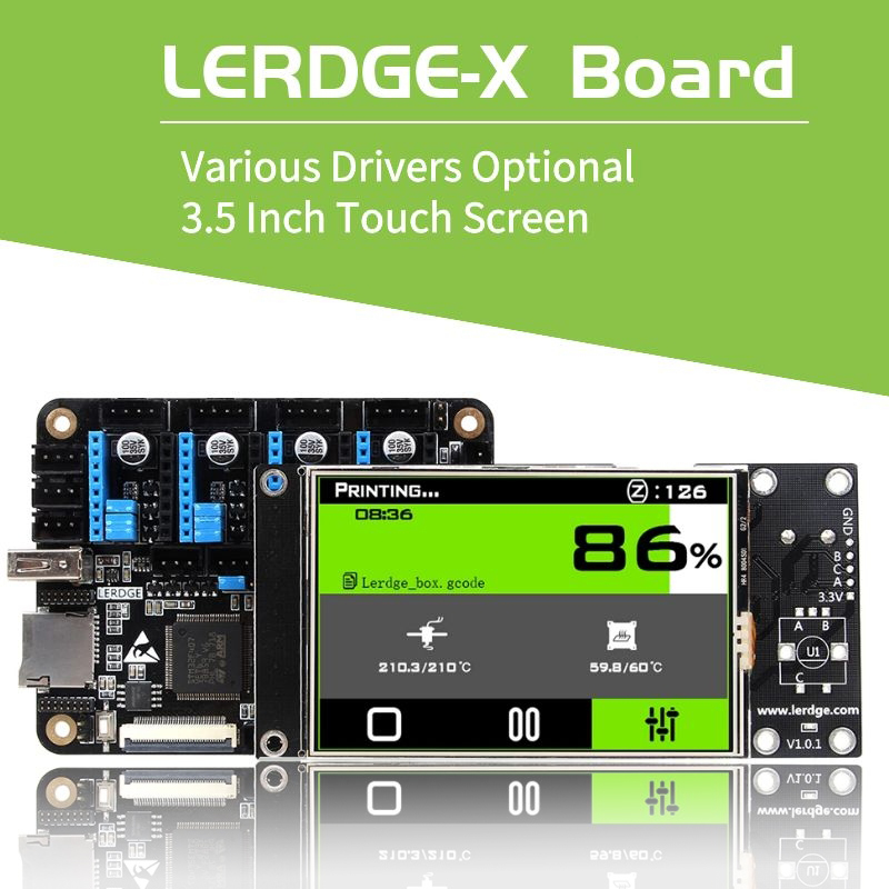 LERDGE-X 3D Printer Controller Board For Control Printer Parts Motherboard With ARM 32Bit Mainboard Tmc2208  Lv8729 A4988 Driver