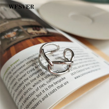 WFSVER 925 sterling silver ring korea style vintage chain rings for women personality opening adjustable fine jewelry gift wfsver women gold color 925 sterling silver ring korea style chain flower rings openwork opening adjustable fine jewelry gift