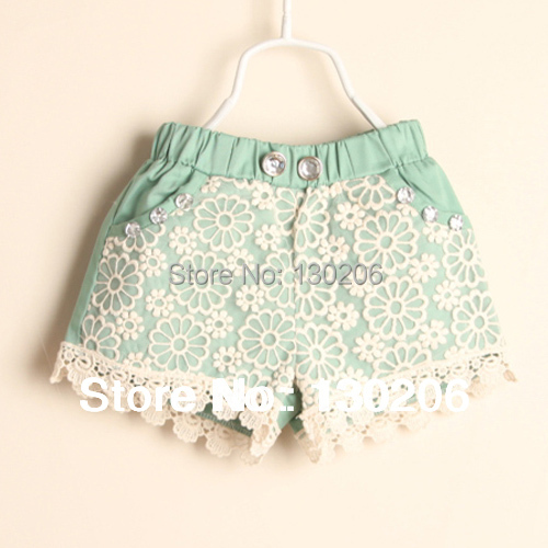 Children shorts girls pants,kids casual lace shorts,baby's