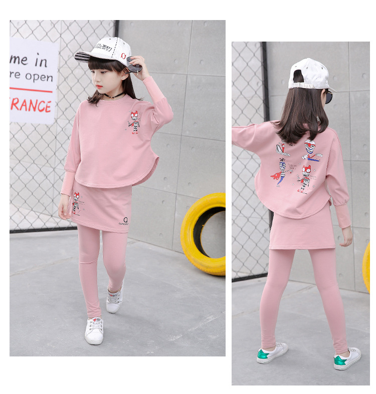 HTB1 dWPSFXXXXa5XpXXq6xXFXXXe - 2017 Baby Clothing Set Autumn Baby Girls Clothes Long Sleeve T-Shirt+Pants 2Pcs Suits Cartoon Children Spring Solid 6-15T O-Neck