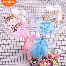 Happy Birthday Balloon Cake Topper Lover Couple Party Cake Decoration Kids  Favors and Gifts Baby Shower Decora Valentine's Gift 10pcs lot love heart balloon cake topper happy birthday party cake decoration kids beautiful favors and gifts baby shower decora
