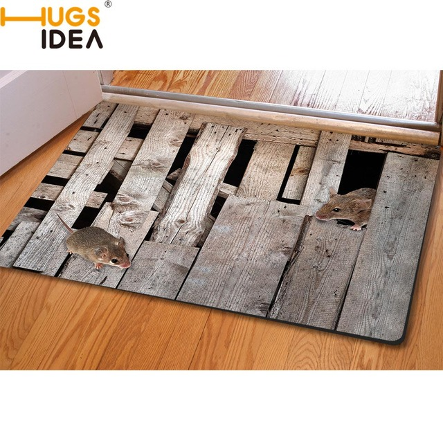 HUGSIDEA 3D Creative Home Carpets Non-slip Kitchen Tapetes Rugs Para Casa  Sala for Home