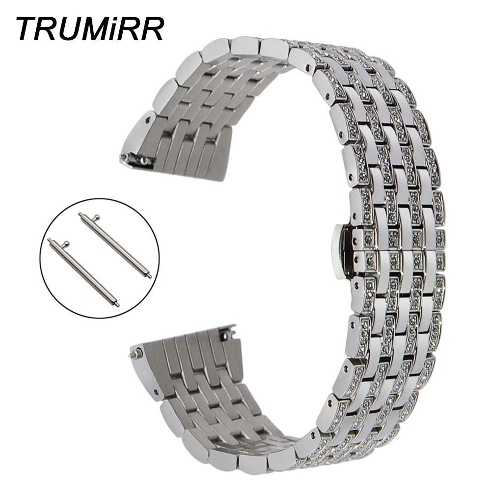 Crystal Diamond Watchband for Patek Philippe Zenith Blancpain Quick Release Watch Band Steel Strap Wrist Bracelet