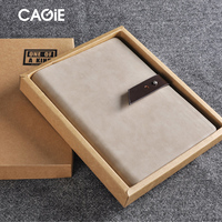 CAGIE Vintage Creative Pu Leather Spiral Notebook A5 Fashion Leather Buckle Personal Diary Planner Agenda Filofax