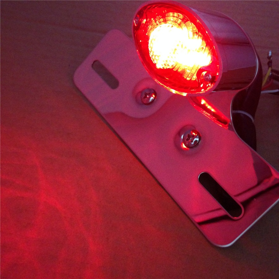 Aftermarket Free shipping motorcycle Parts Chrome Red Turn Signal LED Light Fits For Most Motorcycle,Street Bike,Scooter,Cruiser