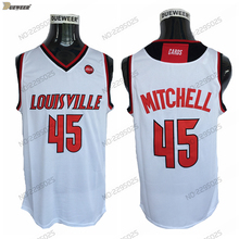 5f50b3f4bd1 DUEWEER Mens 2018 Louisville Cardinals Donovan Mitchell Basketball Jersey  Road White 45 Donovan Mitchell College Stitched. 3 Colors Available