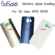 10 pièces couvercle en verre arrière pour Samsung Galaxy S6 edge G925 remplacement batterie boîtier de porte avec autocollant + IMEI pièces dimpression