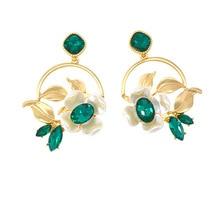 Baroque Pearl and Crystal Earrings for Women Tassel Korean Statement Luxury Crystal Boho Vintage Drop Gold Rhinestone Earrings